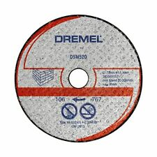 Dremel Max Cut-off Saw Wheel Masonry 3 Pcs 30 Grit Silicon Carbide USA BRAND