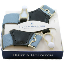 Grey Sock Suspenders from Hunt & Holditch #323
