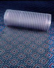 Clear Plastic Runner Rug Carpet Protector Mat Ribbed Multi - Grip.(26in X 30FT)