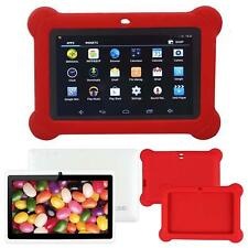 """7"""" Android WiFi Bluetooth Touch Quad Core Tablet PC For Kids White + Case Red FT"""