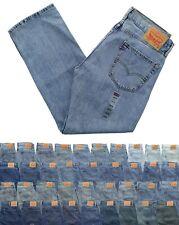 Levi's Men's 505 Jeans Regular Fit Denim Blue Jean Pants Tapered or Straight Leg