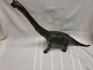 Vintage Hard Vinyl Plastic brontosaurus Dinosaur Toy Figure Sound Works