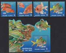 PITCAIRN ISLAND : 2003 Squirrel Fish set + min Sheet SG 651-4 +MS655 MNH