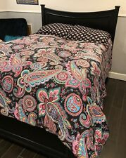 Vera Bradley Persian Paisley Reversible Comforter Set Pattern 100% Cotton
