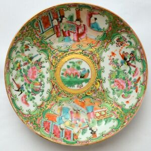 ANTIQUE CHINESE CHINA DYNASTY FAMILLE ROSE PAINTED PLATE DISH BOWL PORCELAIN