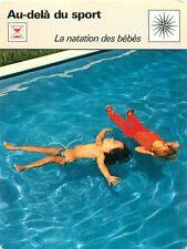 FICHE CARD Natation des Bébés-Nageurs Piscine Swimming Pool Swimmers Babies 70s