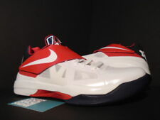 Nike Zoom KEVIN DURANT KD IV 4 OLYMPIC WHITE OBSIDIAN BLUE RED 473679-103 10.5