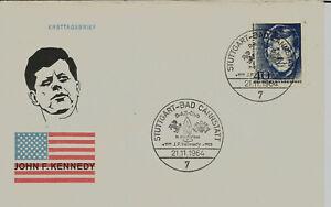 """BRD FDC MiNr 453 (8a) """"1. Todestag von John F. Kennedy"""" -US-Präsident-Politiker-"""