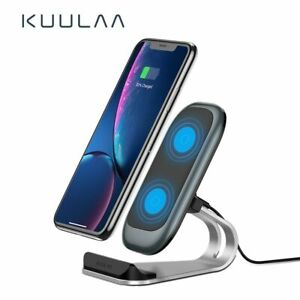 Qi Wireless Charger and Phone Holder 10W for iPhone X XS 8 XR Samsung S9 Xiaomi