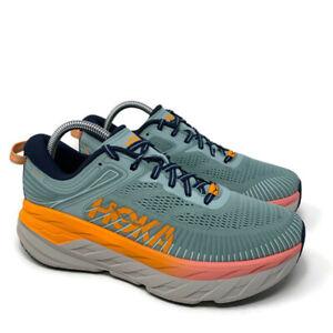 Hoka One One Bondi 7 Running Shoes Womens Sz 9 Blue Haze Athletic Sneaker