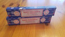 Satya Sai Baba, Nag Champa incense, 2 boxes 15g ea, India, Yoga, Meditation, Om