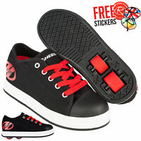 Heelys X2 Fresh, Black/Red Boys Roller Skating Shoes / Wheeled Roller Shoes