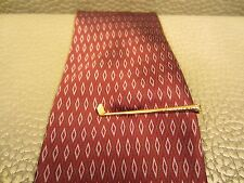 Vintage Yellow Gold Plated Golf Club Tie Clasp