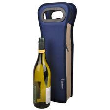 1 bottle cooler bag | Wine Gift Bag | Insulated | Single Bottle | BYO | Navy
