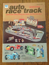 Vintage Whitman AUTO RACE TRACK Press Out book UNUSED from 1979