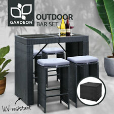Gardeon Outdoor Furniture Bar Table Dining 4 Chairs Stools Set Patio Lounge