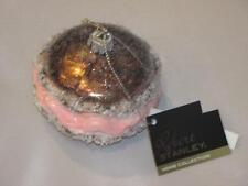 Pink & Brown  Whoopie Pie Dessert Robert Stanley Glass  Christmas Ornament New