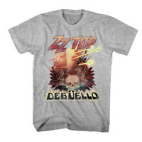 ZZ Top Deguello Album Cover Art Men's T Shirt Vintage Skull Rock Band Tour Merch