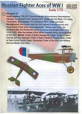 Print Scale Decals 1/72 RUSSIAN FIGHTER ACES OF WORLD WAR I
