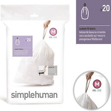 simplehuman CW0173 Sure Fit  Bin Liners 45 Liter