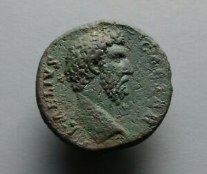 Scarce Aelius AD 136-38 AE As. Roman coin. Low start No reserve