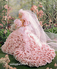 """WEDDING DRESS""~Annie's Crochet PATTERN ONLY fits BARBIE FASHION DOLL~SEE PICS"