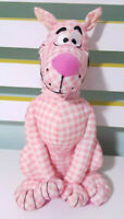 Scooby-Doo Plush Toy Children's Soft Pink & White Check Scooby Doo 27cm Tall!