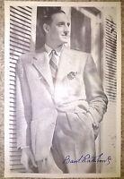 Basil Rathbone Genuine Hand Signed Book Photograph COA Autograph AFTAL