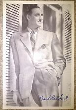 Basil Rathbone Genuine Hand Signed Book Photograph COA Autograph AFTAL