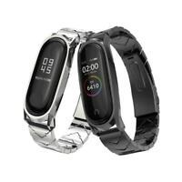 Wrist Band 4 Strap Metal Stainless Steel Compatible Fitness Bracelet Xiaomi Mi