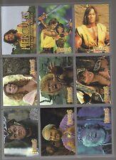 Hercules The Legendary Journeys 90 card set from Topps 1996 Xena