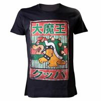Mens Super Mario Bros Bowser Kanji T-shirt - Nintendo Japanese Gamer Tee