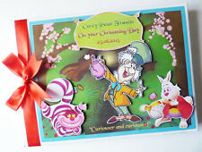 PERSONALISED MAD HATTER/ALICE IN WONDERLAND/1ST BIRTHDAY GUEST BOOK ANY DESIGN