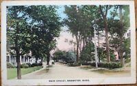 Brewster, MA 1920s Postcard: Main Street - Massachusetts Mass