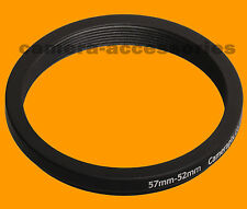 57mm to 52mm 57-52 Stepping Step Down Filter Ring Adapter 57-52mm 57mm-52mm (UK)