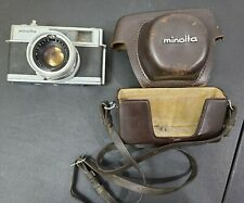 Vintage Minolta Hi-Matic 7 Camera With ROKKER PF1:1.8 F=45MM Len and Case