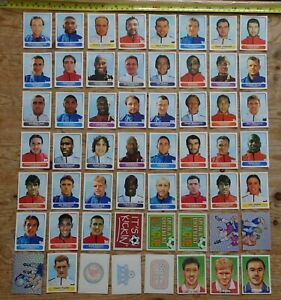 Panini Superplayers Super Players stickers lot incl tattoos embossed stickers