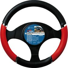 37-39cm Red Black Speed Design Wheel Cover - Sumex Pvc Steering Race Driving