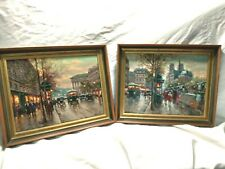 French Impressionist Oil Paintings On Canvas Signed Boyer NICE!