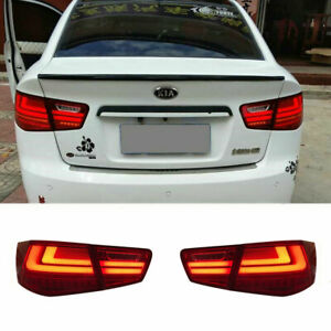 LED Taillights Assembly For Kia Forte Dark/Red Replace OEM Rear lights 2010-2013