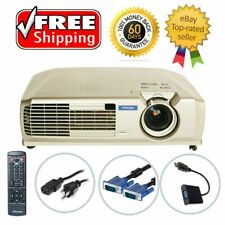 Epson PowerLite 74C 3LCD Projector Portable HD 1080i Remote HDMI-adapter bundle