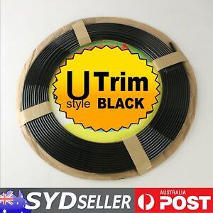 BLACK OUT Molding Trim U Shape Car Auto Cab Doors Hood Trunk Edge Protector 20M