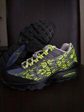 Sz 6.5 y Nike Air Max 95 SE LOGOS (GS) Athletic Sneakers Grey Volt 922173-004
