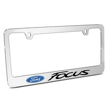 Ford Focus Mirror Chrome Metal License Plate Frame, Made in USA