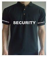 Printed SECURITY DOORMAN Guard Work WorkWear BodyGuard Job T Shirt Top Tee Polo