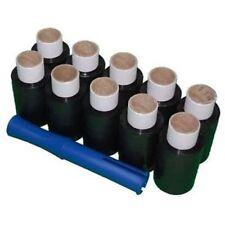10 Rolls 100mm x 150m Black Mini Hand Pallet Cling Stretch Wrap Shrink Film