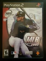 MLB 2005 Sony PlayStation 2 WITH CASE & INSTRUCTION MANUAL BUY 2 GET 1 FREE
