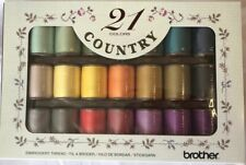 Brother Country Embroidery Machine Threads Box of 21 CYT21 X81269102 - B246