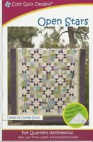 Open stars Quilt pattern - cozy Quilt Design