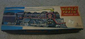Vintage RARE tin World Train Friction Toy  Made in Japan EX Original Box